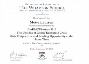 Wharton - Certificate